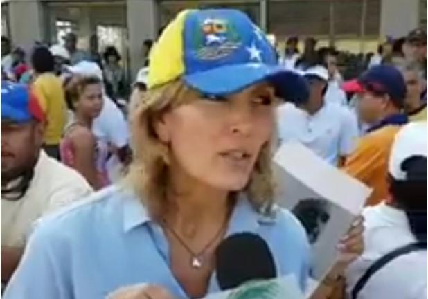 Silvia Martínez, esposa del preso político Braulio Jatar