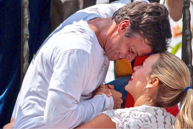 Leopoldo López junto a su esposa, Lilian Tintori (Foto: @LilianTintori)
