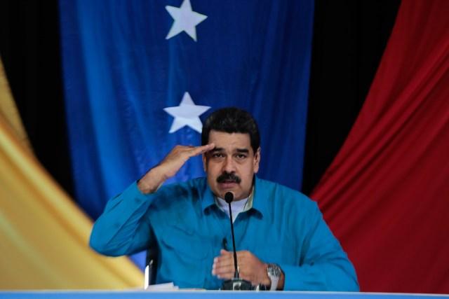 """El presidente de la República, Nicolás Maduro convocó a una Constituyente """"con el pueblo"""". Foto: AVN"""