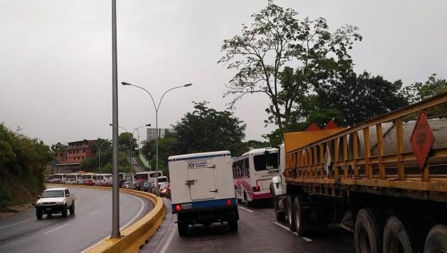 Autopista Regional del Centro a la altura de Hoyo de la Puerta / Foto @simoncalzadilla