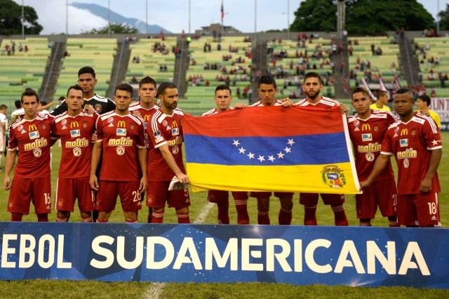 El Caracas FC antes de enfrentarse a Cerro Porteño en Copa Sudamericana (Foto: AFP)