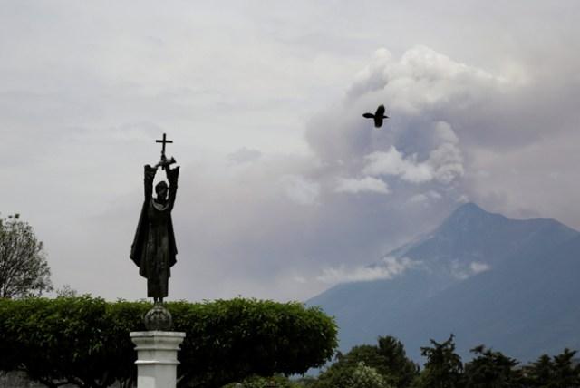 Volcán en Guatemala / AFP