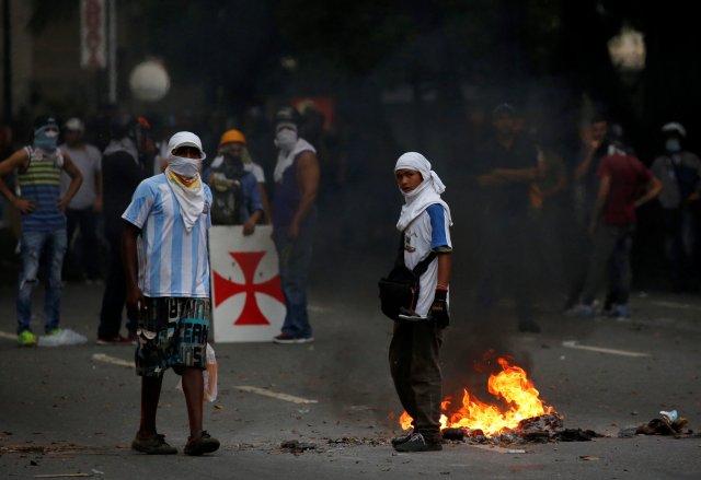 La brutal represión de este #10May que dejó un muerto y más de 160 heridos. REUTERS/Carlos Garcia Rawlins