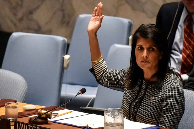 La embajadora de Estados Unidos ante la ONU, Nikki Haley (Foto archivo REUTERS/Stephanie Keith)