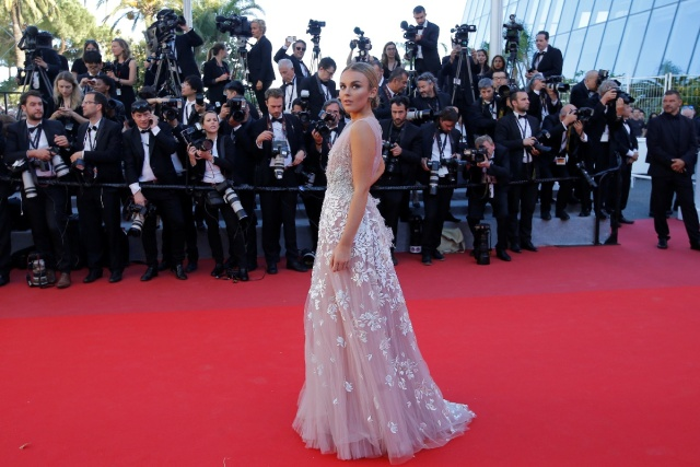 "70th Cannes Film Festival - Screening of the film ""Okja"" in competition - Red Carpet Arrivals- Cannes, France. 19/05/2017. Tallia Storm poses. REUTERS/Stephane Mahe"