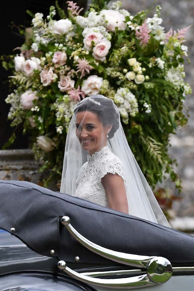Pippa Middleton, the sister of Britain's Catherine, Duchess of Cambridge, arrives for her wedding to James Matthews at St Mark's Church in Englefield, west of London, on May 20, 2017. REUTERS/Justin Tallis/Pool