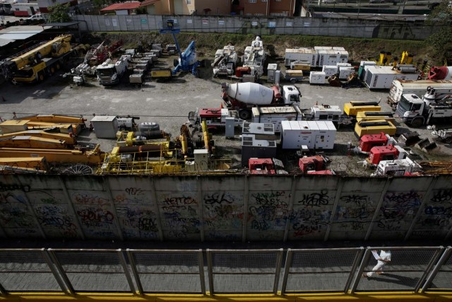 A view of the construction site by Odebrecht of a metro station is seen in San Antonio, Venezuela March 28, 2017. Picture taken March 28, 2017. REUTERS/Marco Bello