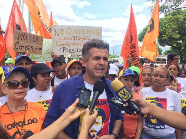 El Responsable regional de Voluntad Popular, Alejandro Feo La Cruz