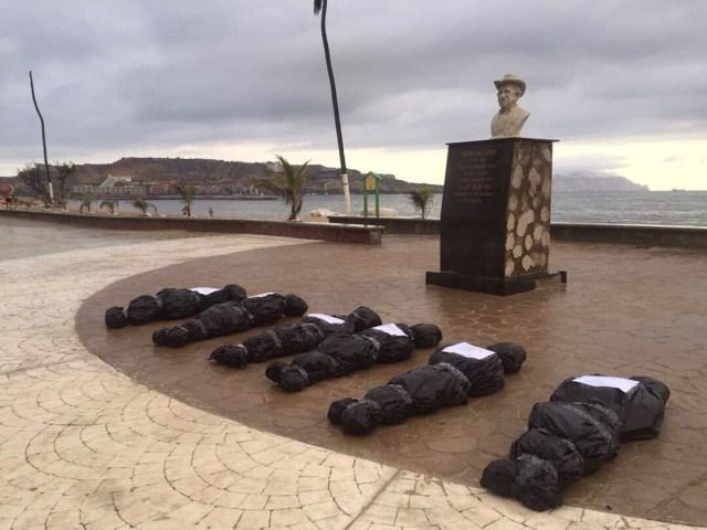 Protesta en el estado Anzoátegui por los caídos durante las protestas