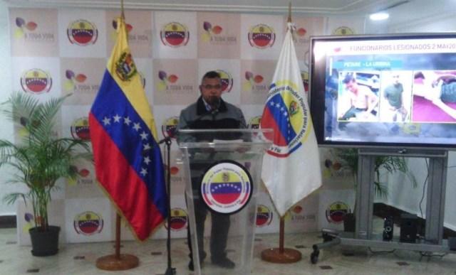 Néstor Reverol, ministro de Interior, Justicia y Paz, acusa al presidente de la AN Julio Borges de los hechos violentos ocurridos en el país el 2 de mayo. (Foto @DPresidencia)