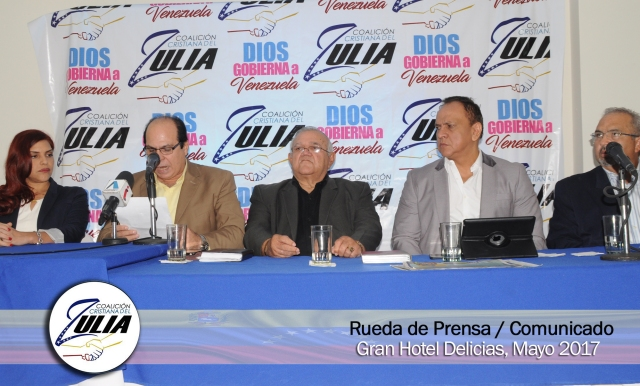 Integrantes de la Coalición Cristiana del Zulia