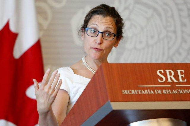 La ministra de Relaciones Exteriores de Canadá, Chrystia Freeland. REUTERS/Ginnette Riquelme
