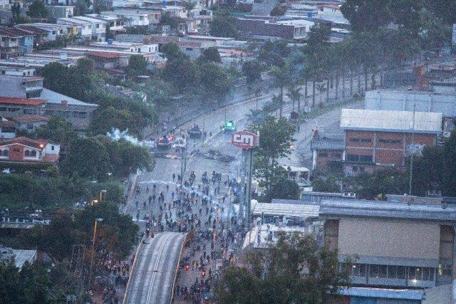 Represión en San Antonio de Los Altos