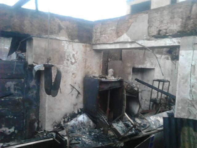 Arepera Socialista fue quemada en Valera, estado Trujillo. (Foto @noeliaorozco)