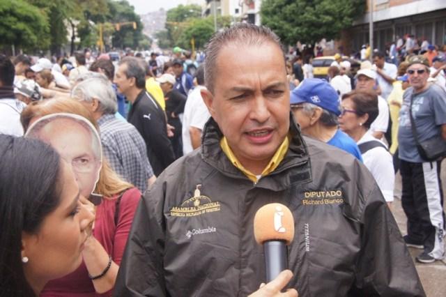 El diputado de la asamblea Nacional, Richard Blanco