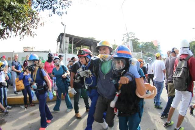 Heridos en Las Mercedes. Foto: Régulo Gómez /Lapatilla