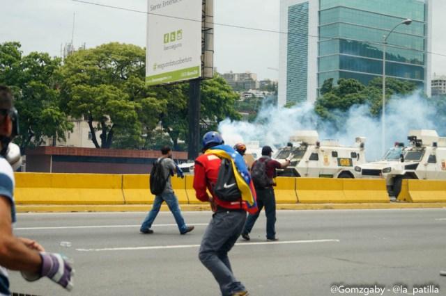 Así transcurrió la marcha en la Autopista Francisco Fajardo este miércoles 03 de mayo.