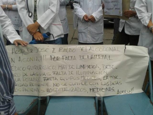 Médicos en protesta / Cortesía