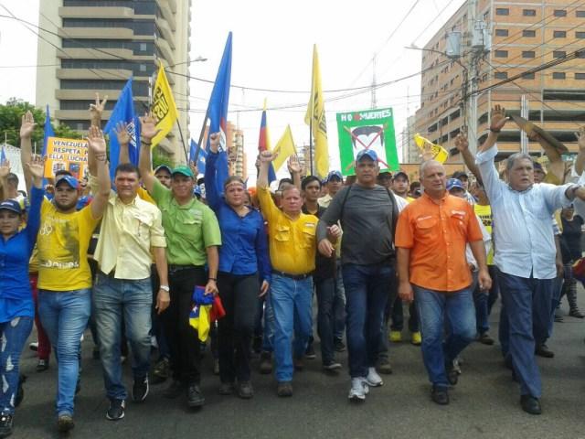 La Diputada Elimar Díaz en la marcha En defensa de la Constitución en Maracaibo