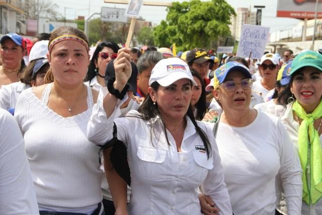 Mujeres zulianas marchan en contra de la represión
