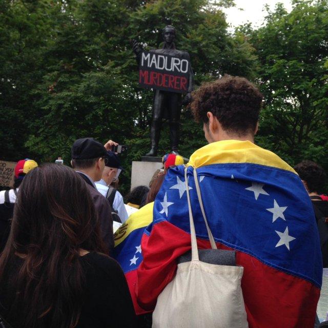 Venezolanos protestan en Londres