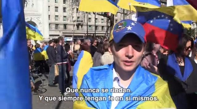 Ucranianos enviaron mensajes de resistencia a los venezolanos en 2014 (Captura)