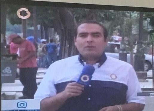 El periodista, Ricardo Graffe fue herido con perdigonazos mientras se encontraba en Valencia. Foto: @ricardograffe
