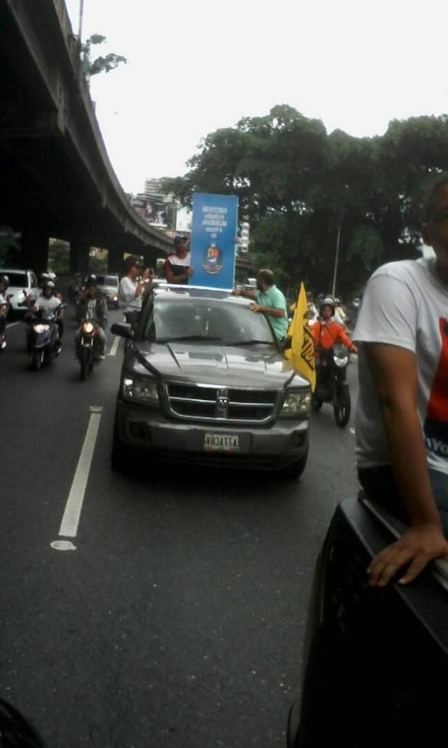 Caravana de la oposición rumbo a Vargas / Foto: Régulo Gómez - La Patilla