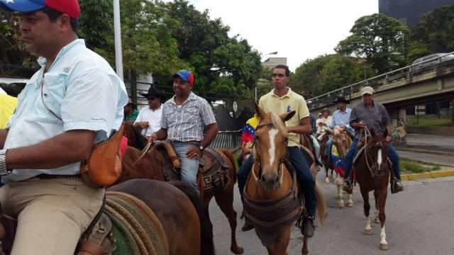Cabalgata por Caracas/ Foto:  Gustavo Gonzalez