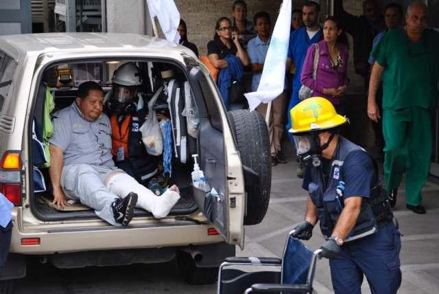 Diputado José Brito herido en Bello Monte. Foto / @tofranku