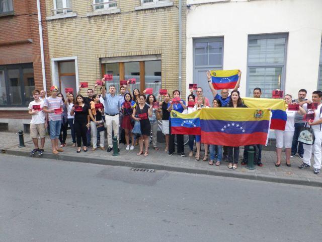 Venezolanos protestan en Bélgica