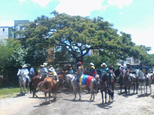 Cabalgata por la libertad en San Juan de los Morros