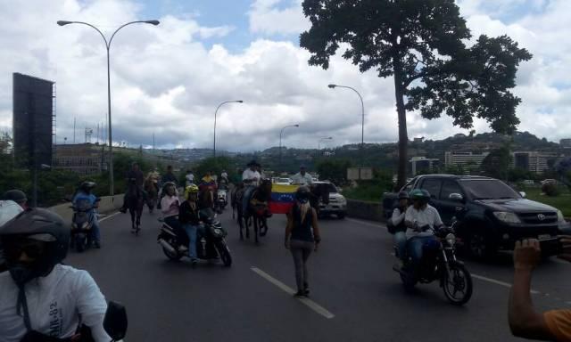Manifestantes concentrados en Parque Cristal / Foto: Régulo Gómez - La Patilla