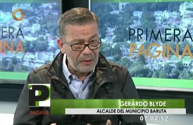 Gerardo Blyde, alcalde del municipio Baruta y abogado constitucionalista / Foto captura tv