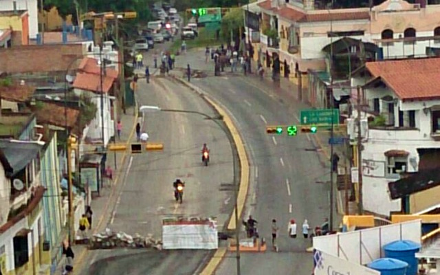 Foto: Barricada en el Municipio El Hatillo / Cortesía