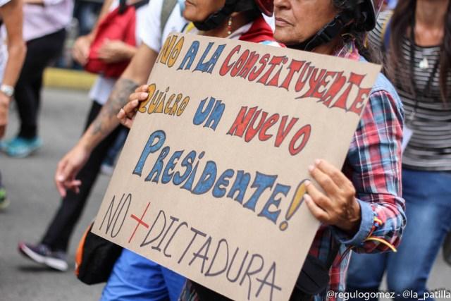 Venezolanos protestan contra la Constituyente de Maduro (Foto archivo)