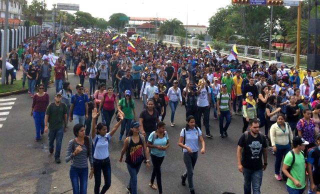 Foto: Estudiante marcha en ciudad Bolívar en rechazo a la Constituyente / Cortesía