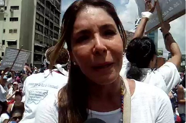 Viviana Gibelli desde la marcha de las mujeres