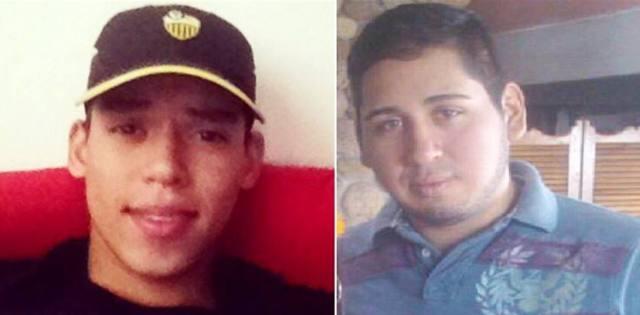 Los estudiantes Pablo Antonio Parada Díaz y Daniel Moisés Beltrán Navarro fueron privados de libertad por el tribunal 11 de control militar del circuito judicial castrense del Táchira. Foto: El Nacional