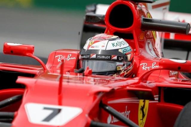 El piloto de Ferrari Kimi Raikkonen durante los ensayos libres para el Gran Premio de Canadá de Fórmula Uno (Foto: Reuters)