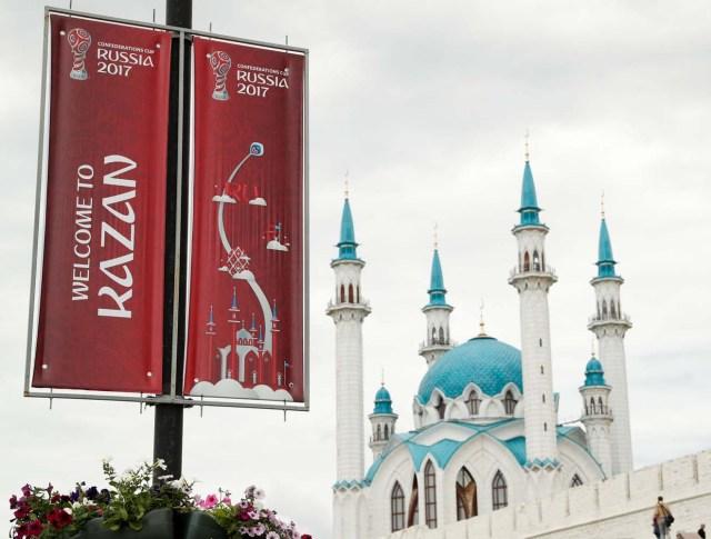 Football Soccer - FIFA Confederations Cup - Kazan, Russia - June 17, 2017   The Qol Sharif mosque in the grounds of the Kazan Kremlin   REUTERS/John Sibley