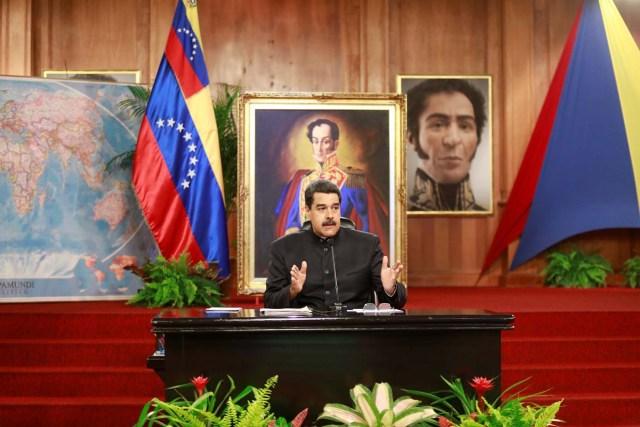 Nicolas Maduro declara a medios internacionales REUTERS/Marco Bello