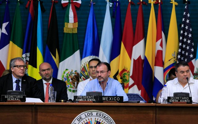 La Asamblea Genral de la OEA en Cancún, México (Foto: EFE)