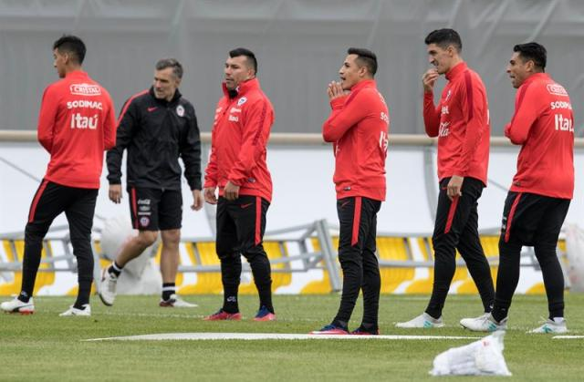 La selección de Chile se prepara para enfrentar al combinado alemán (Foto: EFE)