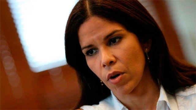 La ex Defensora del Pueblo, Gabriela Ramírez (Foto: Aporrea)