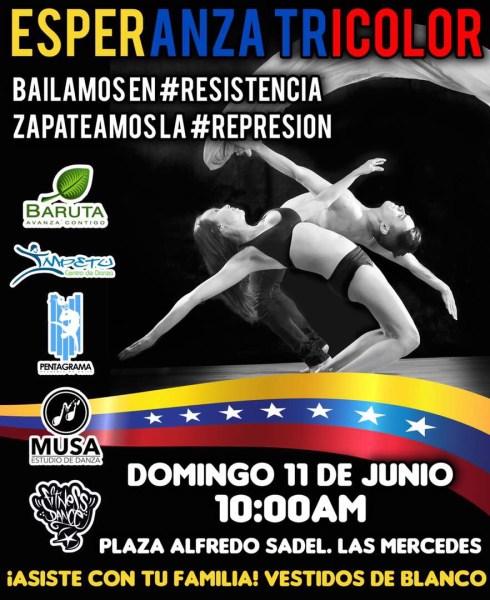 Las cuatro academias de baile más grandes de Caracas, se reunirán en la plaza Alfredo Sadel