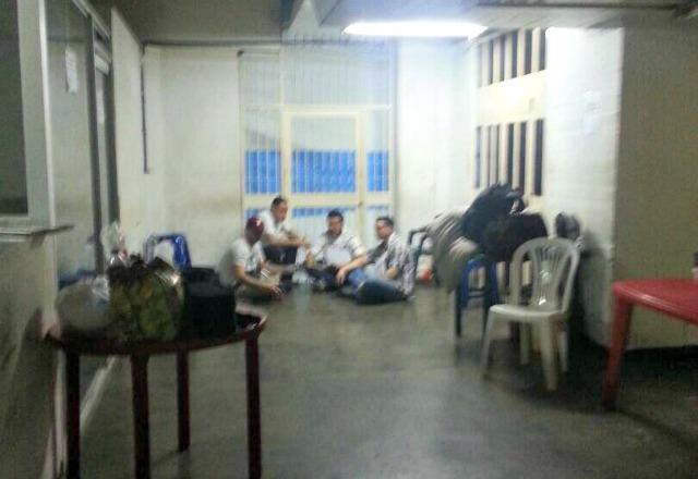Foto:  Protesta de PoliChacao en el Sebin / Jesus Medina Ezaine