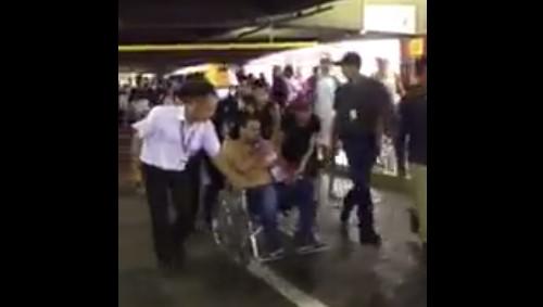 Herido en el CCCT. Foto: Captura de video