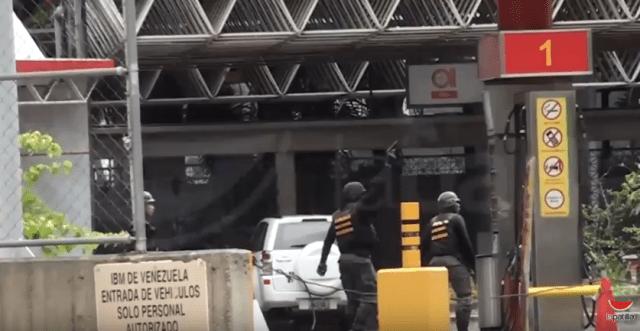 Efectivos Conas GNB disparando en adyacencias del CCCT