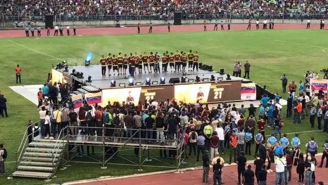 La Vinotinto Sub-20 es homenajeada en el estadio Olímpico (Foto: Andrea Gómez / LaPatilla)
